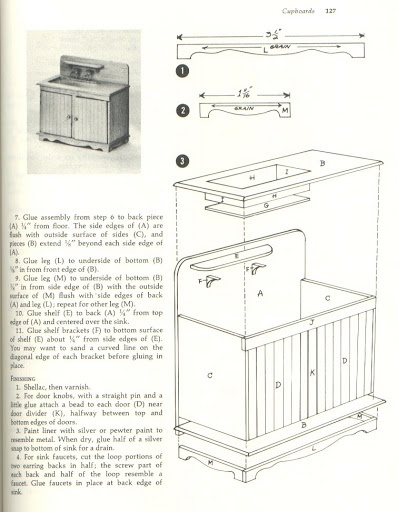 kitchen furniture plans. Old-fashioned Kitchen Sink And Cabinet From: Muebles Auxiliares - Maria Jesús Picasa Webalbum Furniture Plans I