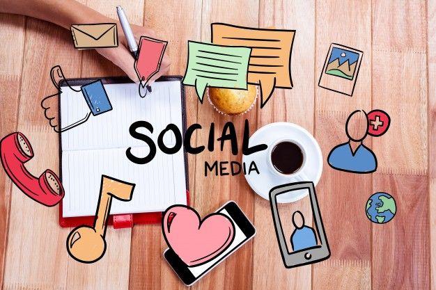 Dibujos de los conceptos de la comunicación social Foto Gratis