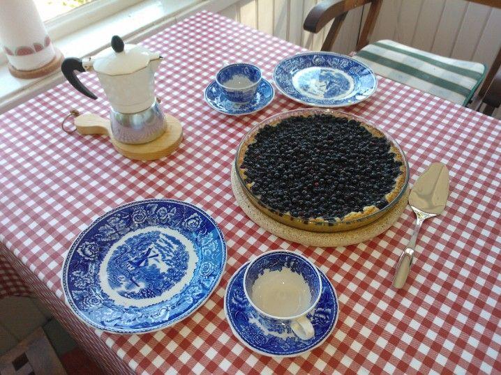 First bilberry pie 2014