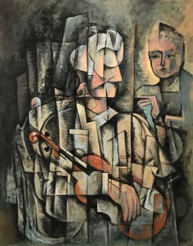 """Saatchi Art Artist Ricard J Tovar; Painting, """"Music lesson (Lliçò de música)"""" #art"""