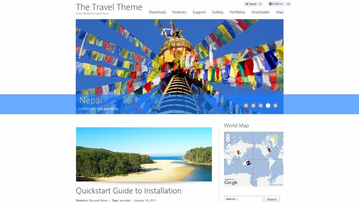 The Travel Theme – WP-Theme - Download: http://thetraveltheme.com/download/