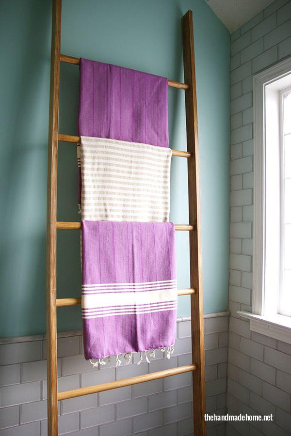 Decor - DYI vintage ladder towel rack | the handmade home