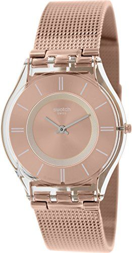 Swatch Women's Skin SFP115M Rose-Gold Stainless-Steel Swiss Quartz Watch with Rose-Gold Dial Swatch http://www.amazon.com/dp/B00O9LAMXQ/ref=cm_sw_r_pi_dp_p353ub12Y7XR0