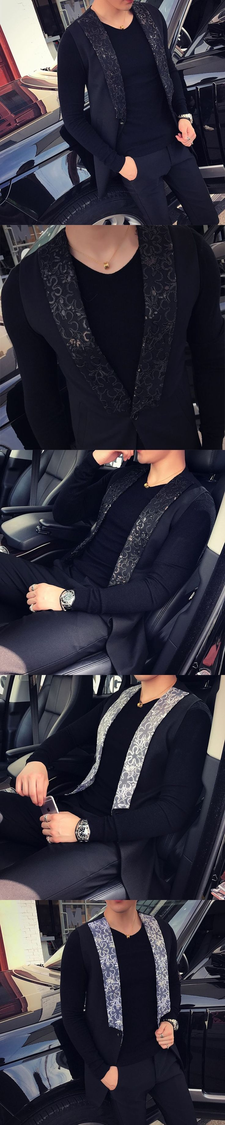 2017 Mens Sleeveless Jackets Mens Flower Printed Vest Mens Nigh Club Outfits Trendy Baroque Vest Luxury Waistcoat Slim Fit #cluboutfits