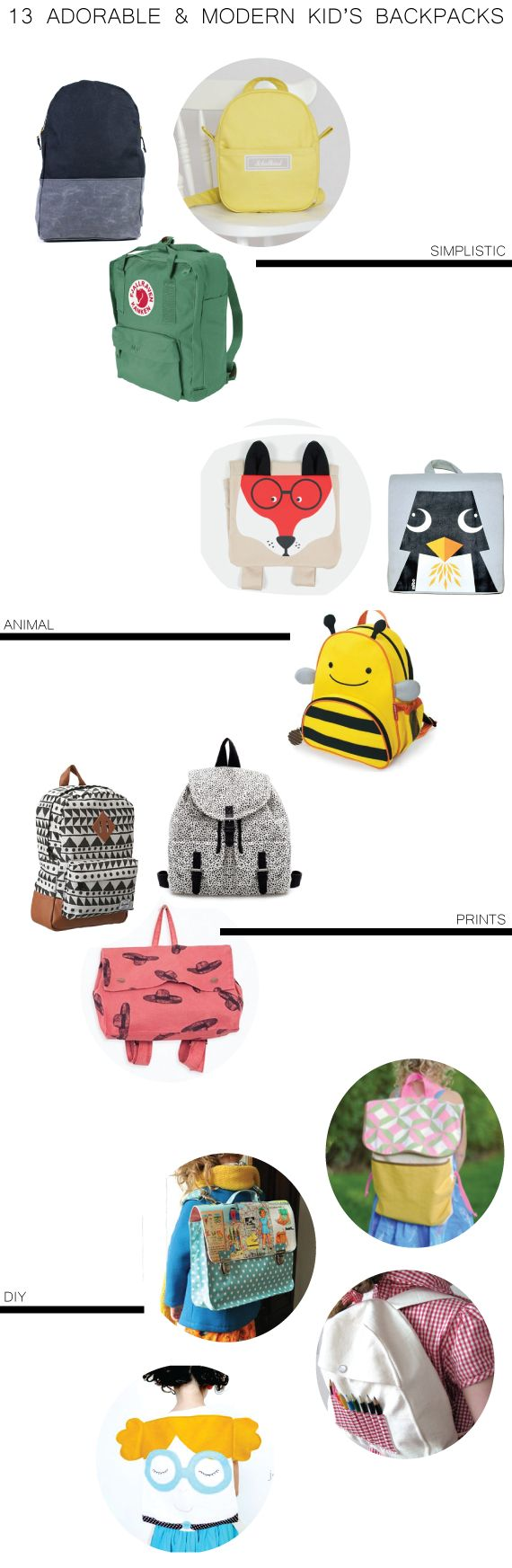 Adorable and Modern Kid's Backpacks