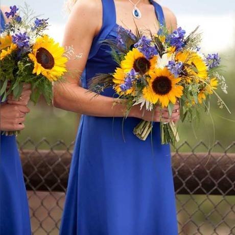 35 best images about sunflower city on pinterest flower for Sunflower dresses for wedding
