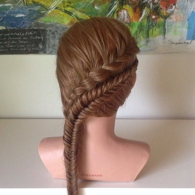 Instagram photo by @flettegutten (Simon Block) | Iconosquare  Lace and cross-over fishtail braid