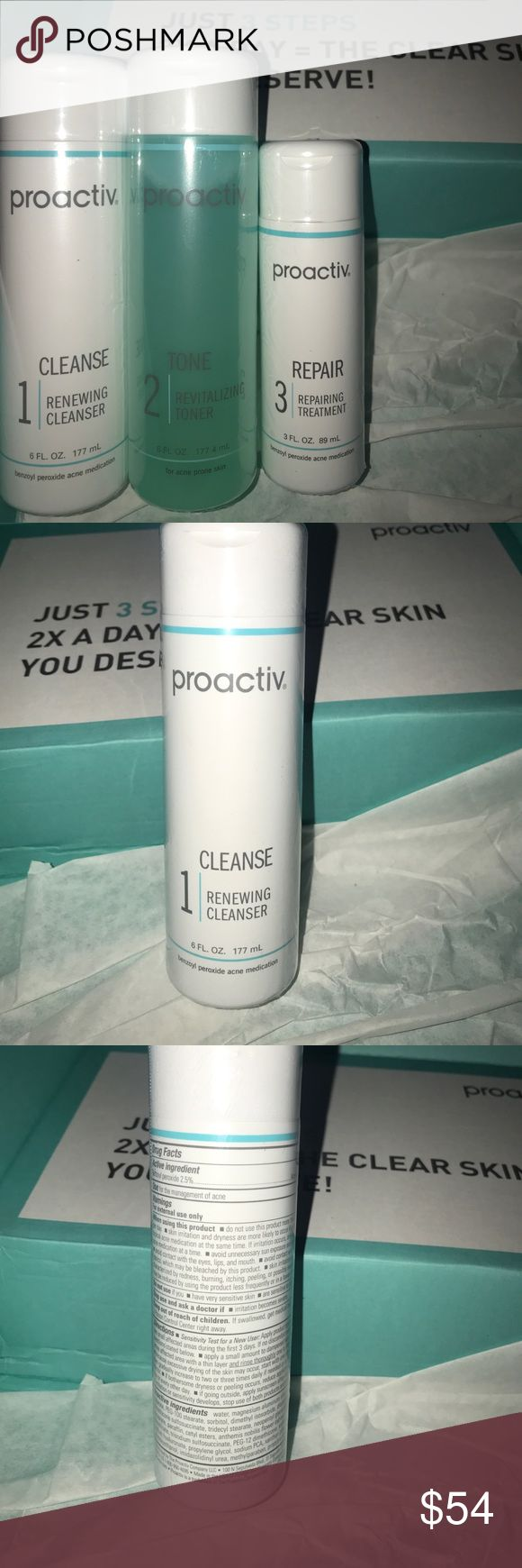 Proactiv kit Proactiv Cleanser (expires 08/18), Toner, and Repairing Cream (expires 08/19). Proactiv Other