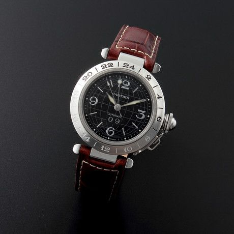 Cartier Pasha Big Date GMT Automatic // 2475 // 33438 // c.1990's // Pre-Owned
