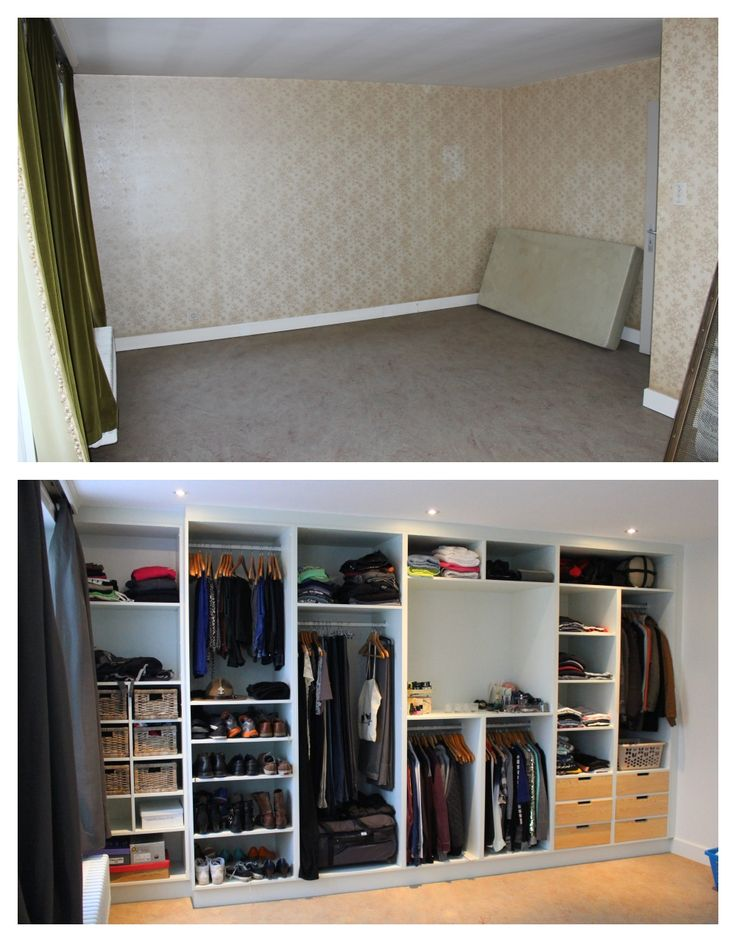 Before/ After: Our selfmade and -designed closet.
