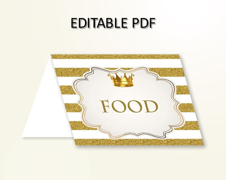 Food Tents Baby Shower Food Tents Royal Baby Shower Food Tents Gold White Baby Shower Gold Food Tents party décor party theme Y9MQF - Digital Product baby shower baby shower party newborn mommy to be Royal Gold