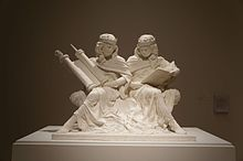 Synagoga and Ecclesia in Our Time. Artwork by sculptor Joshua Koffman. Exhibited in Philadelphia in July 2015