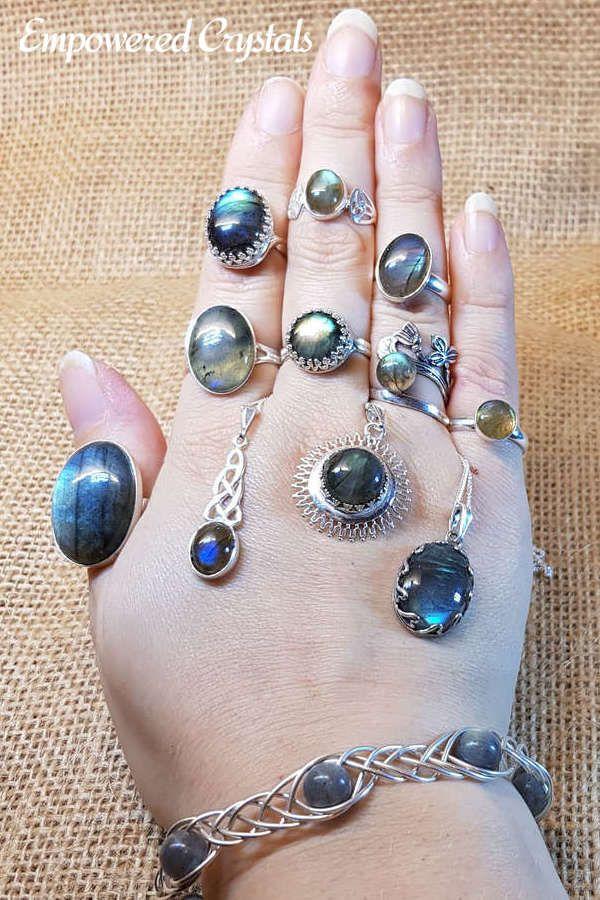 Fine Jewelry Superb Labradorite Malachite Gemstone Handmade Jewelry Earrings Pendant Set
