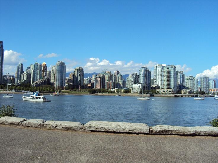 Walking the seawall in Vancouver!