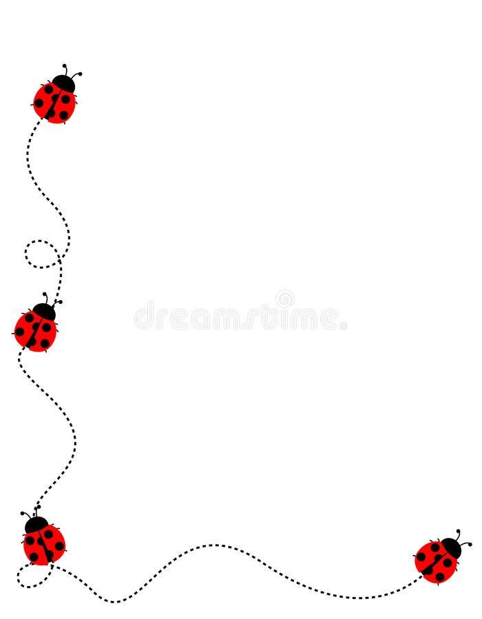 Ladybug Frame Border Cute Ladybugs Frame Isolated On White Background Spon Border Cute Ladybug Frame Ladybug Frame Ladybug Crochet Headband Free