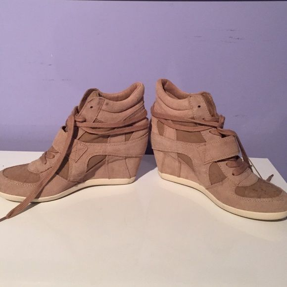 ASH sneaker wedges Beige sneaker wedges Ash Shoes Wedges