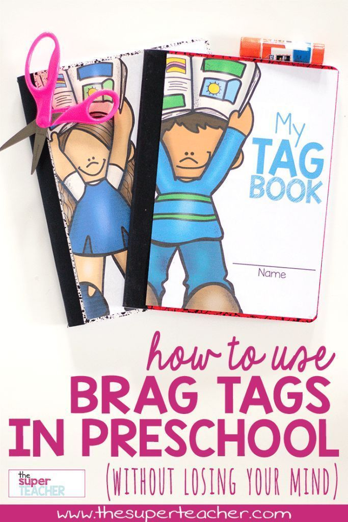 Have you heard about brag tags?  I see them all over Pinterest!  At first, I didn't think they would work for me.  But then I was intrigued, and decided to give them a try.  Keep reading to see how we use our Brag Tags in my preschool class!