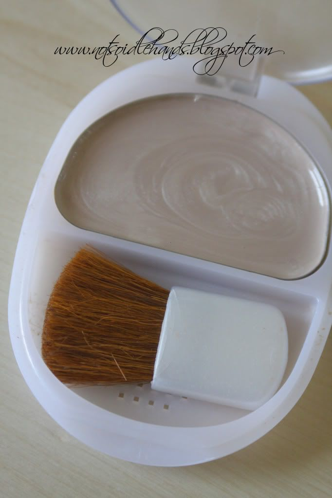 """Pour cheap nail polish into old makeup containers and let it dry = """"play"""" make up for little kids that isn't harmful."""