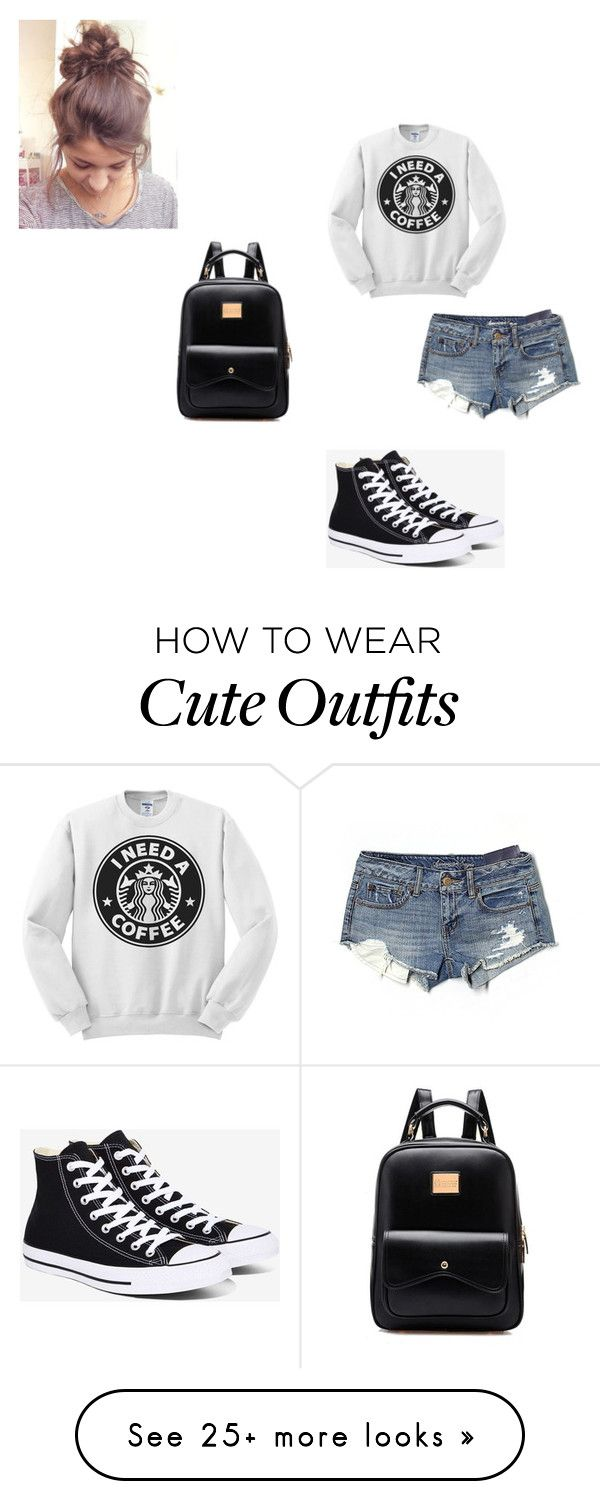 """Lazy School Outfit"" by sofia-b04 on Polyvore featuring American Eagle Outfitters and Converse"