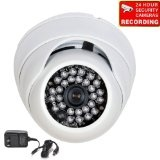"VideoSecu Day Night Vision Built-in 1/3"" Sony Effio CCD CCTV Home Video Infrared Dome Security Camera 700TVL 28 IR LEDs Vandal Proof 3.6mm Wide View Angle Lens for DVR Surveillance System with Power Supply and Free Security Warning Decal A74 (Electronics)By VideoSecu"
