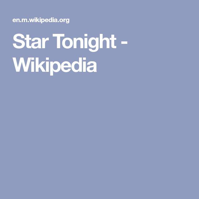 Star Tonight - Wikipedia