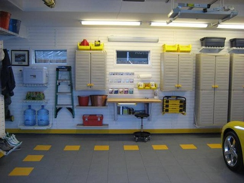 Granite tile with dotted yellow border by garagetek ct westchester via flickr we