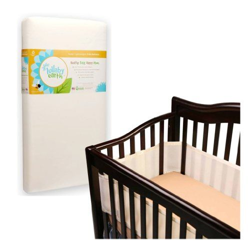 Lullaby Earth Super Lightweight Crib Mattress with Breathable Baby Crib Bumper Ecru >>> You can get additional details at the image link. #NurseryBedding