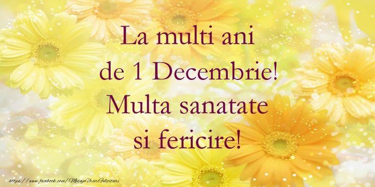La multi ani de 1 Decembrie! Multa sanatate si fericire!