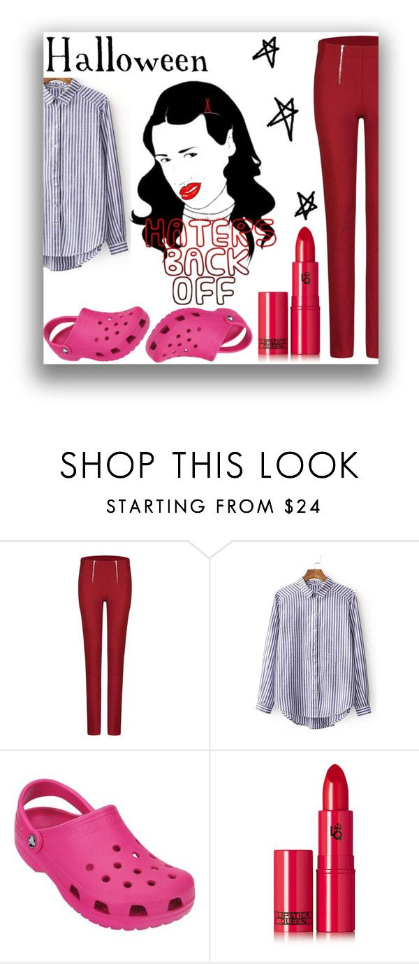 """""""Halloween Costumes - Miranda Sings"""" by amazingpaz ❤ liked on Polyvore featuring Crocs and Lipstick Queen"""