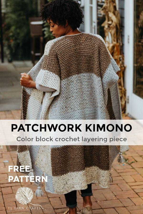 Der Patchwork-Kimono, eine übergroße Schichtung - Kostenlose ...