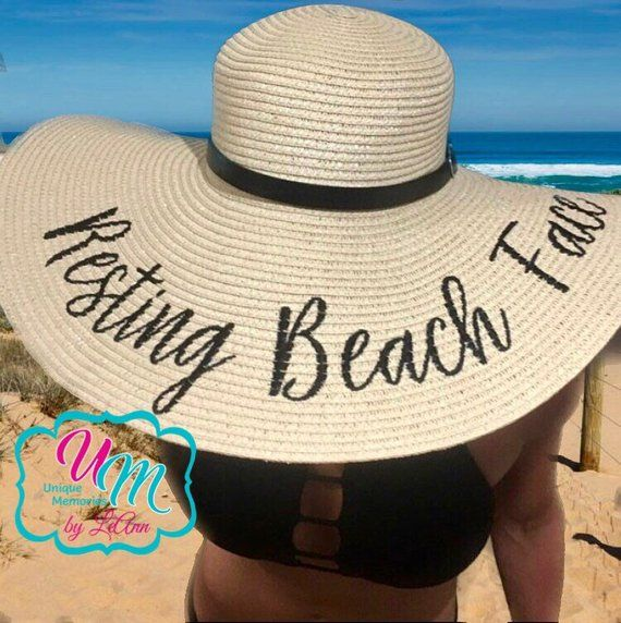 Personalised Mrs To Be Wide  Brim Floppy Straw Hat Holiday Hen Do Hen Weekend