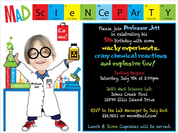 14 best science party invite images on pinterest | mad scientist, Party invitations