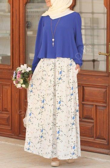 Çiçek Desen Etek - Mavi Etek Çiçek Desen Etek - Mavi; digital özel desen baskılı keten kumaş. Astarlıdır.Cebi mevcuttur. Yan Suhneva