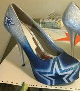 Dallas Cowboys Custom NFL High Heels Platform Stilettos (Any Size Any Team) | eBay