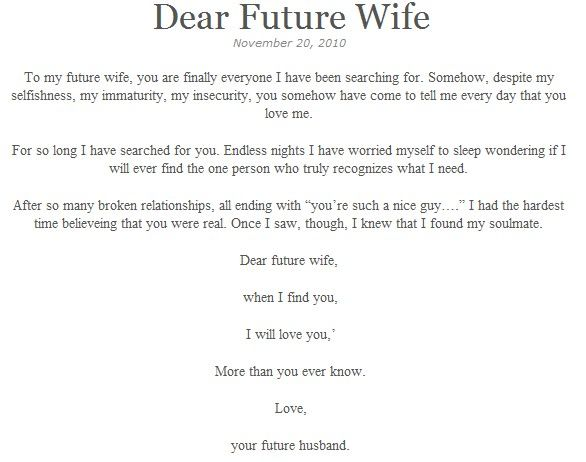 a letter to my future wife to my future religious quotes future 24596