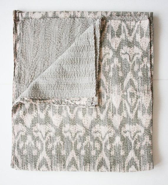 King Size Bedding Ikat by gypsya on Etsy, $168.00
