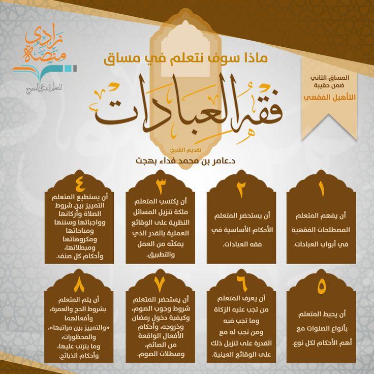 فقه العبادات منصة زادي Islam Facts Facts Soto