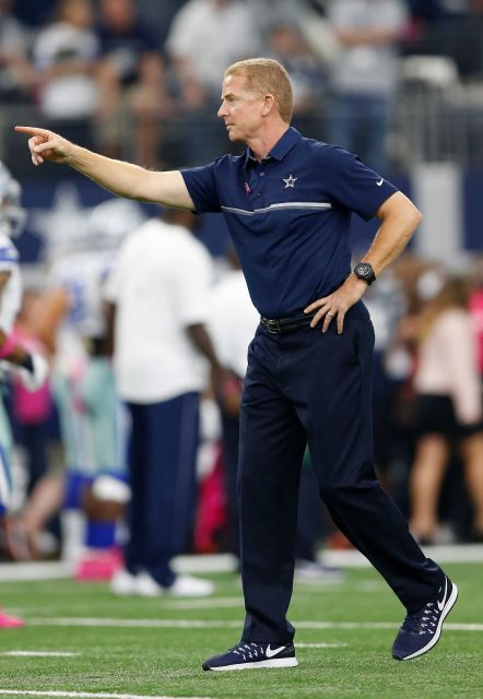 Bengals vs. Cowboys:    October 9, 2016  -  28-14, Cowboys  -    Head coach Jason Garrett of the Dallas Cowboys is seen on the field prior to the game against the Cincinnati Bengals at AT