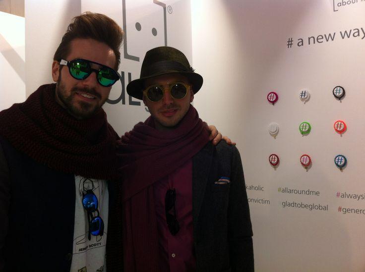 Dario Fattore e Francesco Molinelli #pittiuomo85 #elle #formalcollection