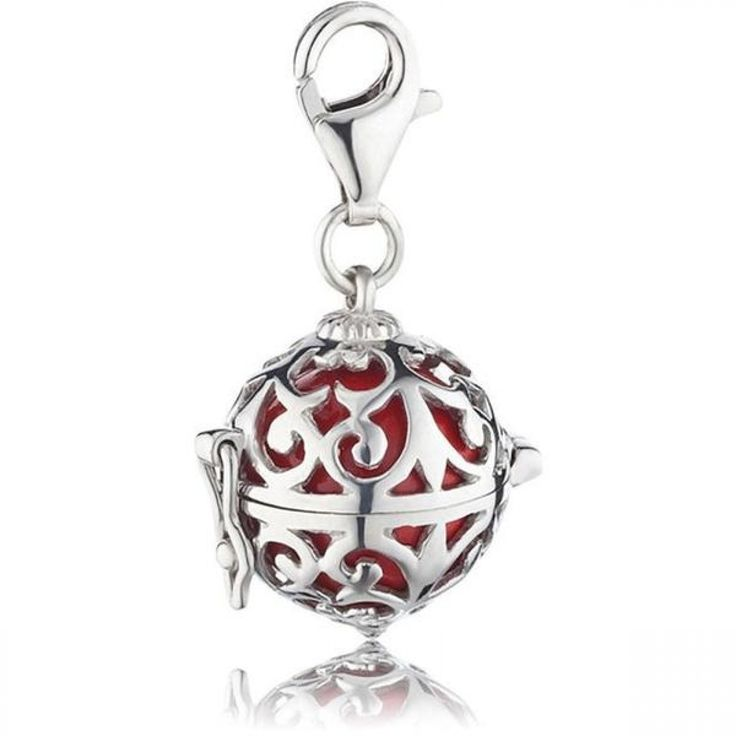 Silver Charm with Red Soundball