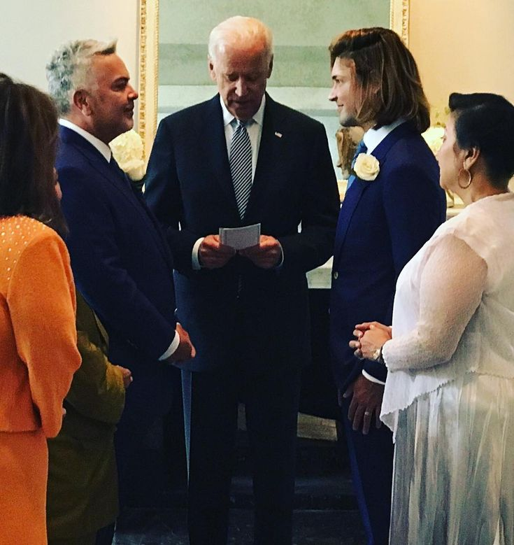 Former VP Biden presided over the wedding of Henry Munoz, the Democratic National Committee Finance Chair, and husband Kyle Ferrari
