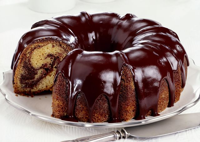 Chocolate glaze for Bundt cake or tube cake, a delicious and easy chocolate glaze recipe.