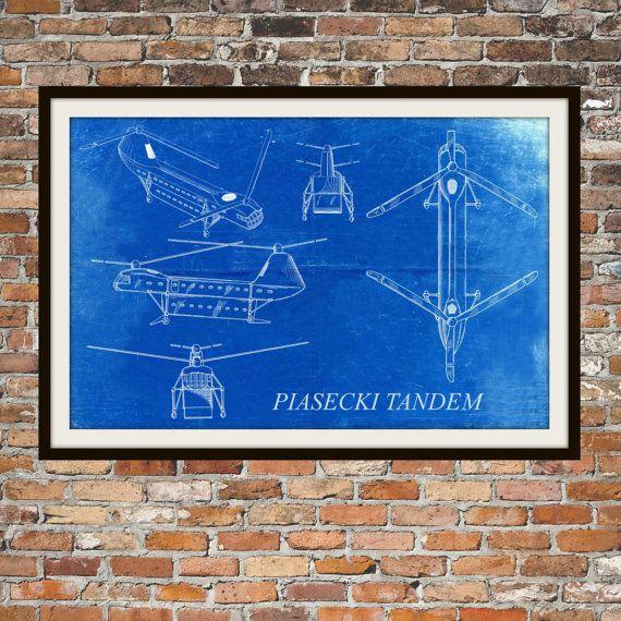 103 best big blue canoe etsy store images on pinterest blue canoe blueprint art of piasecki tandem helicopter by bigbluecanoe malvernweather Gallery
