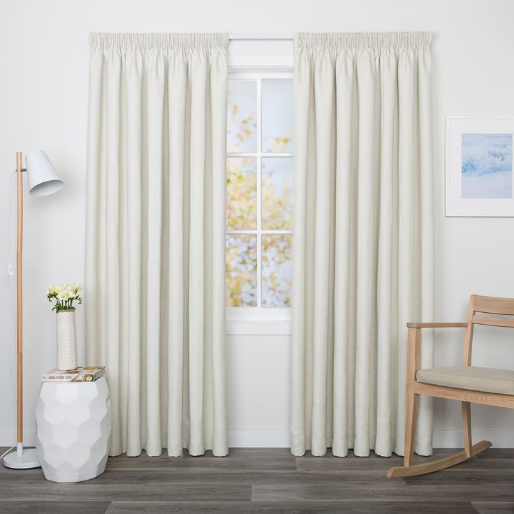 Edison Linen - Readymade Triple-Weave Pencil Pleat Curtain - Curtain Studio buy curtains online