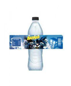 Batman Parti Malzemeleri 10 Adet Doğum Günü Su Şişe Etiketi