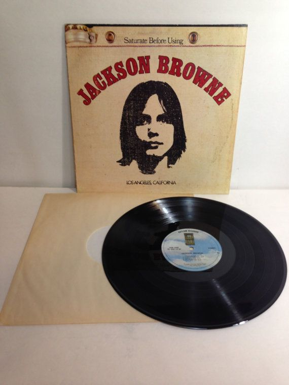 Jackson Browne Saturate Before Using Los Angeles California Vintage Vinyl Record Album 1972 Asylum Records SD 5051 Burlap Cover Opens At Top by NostalgiaRocks