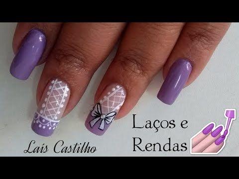 Unhas decoradas muito fácil para iniciantes Laís Castilho - YouTube