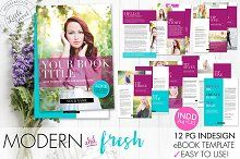 12 page InDesign INDD eBook Template