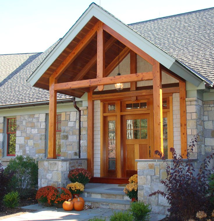 Open Beam Porch Ceiling The Timber Frame Entry Porch