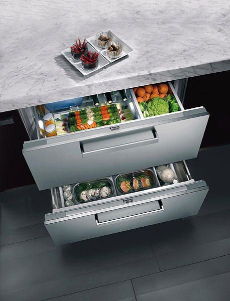 Chilled Produce Drawers in the Kitchen.